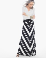 Chico's Mitered Stripe Maxi Skirt