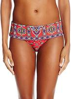 Nanette Lepore Women's Pretty Tough Dreamer Banded Waist Bikini Bottom