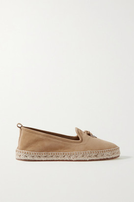 Loro Piana Summer Charms Suede Espadrilles - Sand