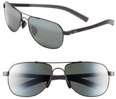 Maui Jim 'Maui Flex - PolarizedPlus ® 2' 56mm Aviator Sunglasses