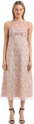Calvin Klein Collection Floral Printed Silk Dress
