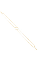 As 29 AS29 LA Collection Gold Oval Double Chain Choker