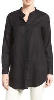 Eileen Fisher Women's Organic Linen Mandarin Collar Shirt