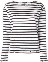 R 13 striped sweatshirt - women - Cotton - M