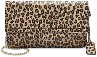 Sole Society Women's Beryl Clutch Vegan Leather Black Leopard Combo From