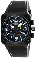 Torgoen Men's Aviator Analogue Quartz Chronograph Watch T27101 With Leather Strap