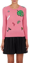 Marc Jacobs Women's Appliquéd Merino Wool Sweater-PINK