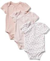Favorite floral short sleeve bodysuit (3-pack)