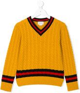 Gucci Kids - cable knit jumper - kids - Wool - 4 yrs