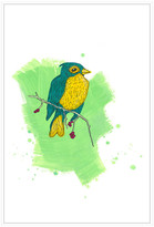 Jonathan Bass Studio Bird Study 2, Decorative Framed Hand Embellished C