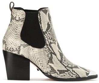 Schutz snake skin effect ankle boots