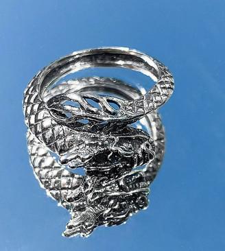 ASOS DESIGN sterling silver ring in dragon design