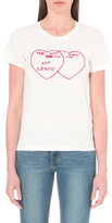 Levi's The Perfect Tee heart-print cotton-jersey t-shirt