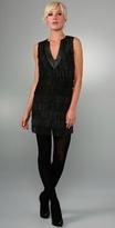 Harmony Leather Fringe Dress