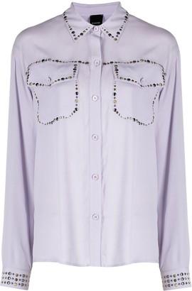 Pinko Studded Semi-Sheer Shirt