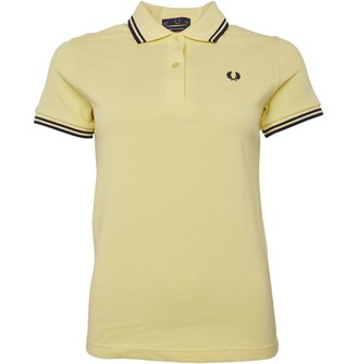 Fred Perry Womens Twin Tipped Shirt Ice Lemon