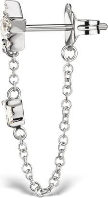 Maria Tash Diamond Star And Triangle Chain Wrap Stud Earring (5.5Mm)