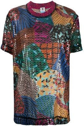 M Missoni Sequined Abstract Top