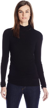 Only Hearts Women's Tulle Long Sleeve Pearled Neck 1 Ply