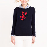 J.Crew Factory Embroidered lobster Teddie sweater