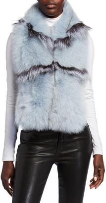 Pologeorgis Wide Fox Fur Scarf