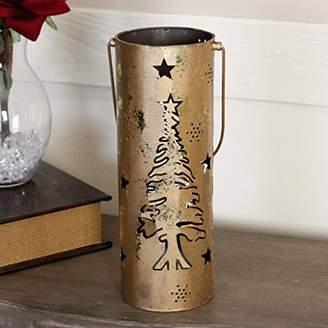 Dibor Winter Gold Tree Tea Light Lantern