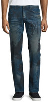 PRPS Barracuda Dirty-Wash Denim Jeans, Blue