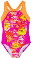 Speedo Girls' Fractured Floral Side Splice One Piece (7yrs16yrs) - 8137086