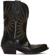 Golden Goose Black Wish Star Low Boots
