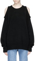 Bassike Cold shoulder yak hair sweater