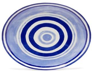 Themis Z - Maze Porcelain Serving Platter - Blue Multi