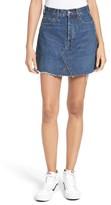 RE/DONE Women's Originals High Waist Denim Miniskirt