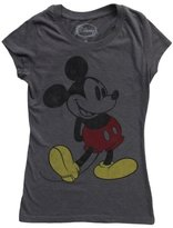 Mighty Fine Classic Mickey Mouse Heather Charcoal Juniors M