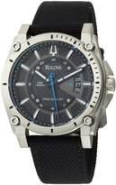 Bulova Men's Precisionist Champlain Charcoal Dial Strap Watch 96B132