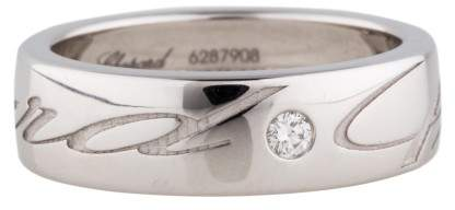 Chopard Chopardissimo 18K White Gold & Diamond Ring Size 6.75