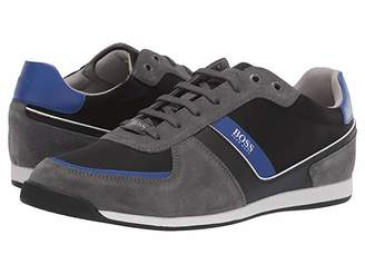 HUGO BOSS Glaze Low Profile Sneaker by BOSS 1 (Dark Grey) Men's Shoes