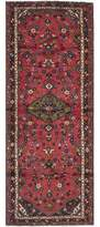 "Ecarpetgallery One-of-a-Kind Hamadan Hand-Knotted Runner 3'10"" x 10'5"" Wool Red Area Rug"