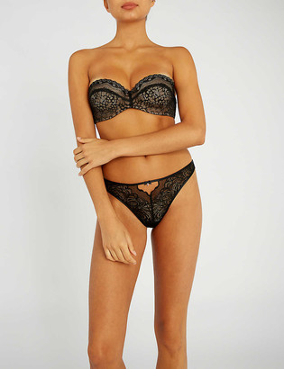 B.Tempt'd B.enticing Strapless Lace Bra