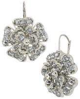 Betsey Johnson Crystallized Flower Drop Earrings