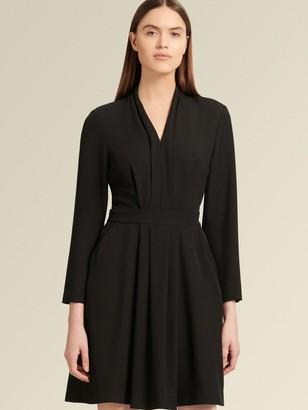 DKNY Donna Karan Women's Long-sleeve Dress With Pockets - Black - Size 0