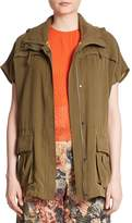 Alice + Olivia Women's Tate Short-Sleeved Hooded Cargo Jacket