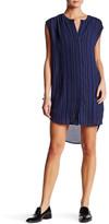 BB Dakota Broxton Striped Sleeveless Shirtdress