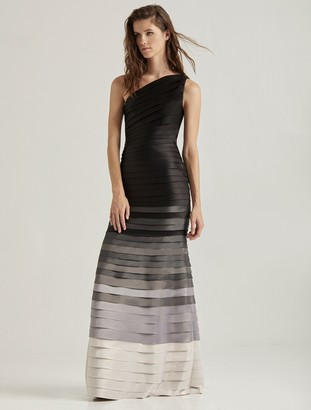 Halston Ombre Strip Gown