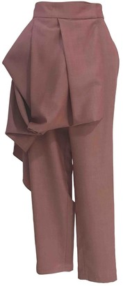 Sandra Weil Pink Linen Trousers for Women