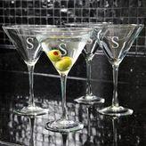 Cathy's Concepts Cathys concepts 4-pc. Monogram Martini Glass Set