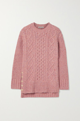 Alex Mill Oversized Cable-knit Merino Wool-blend Sweater - Pink