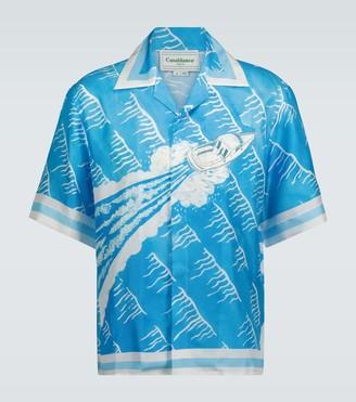 Casablanca Sillage printed silk shirt
