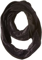 Cuddl Duds Women's Reversible Fleece and Jersey Infinity Scarf