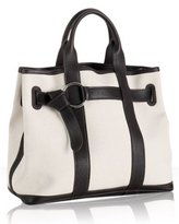 ivory canvas leather trim 'Garden Party' tote