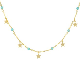 Latelita Turquoise Star Choker Necklace Gold